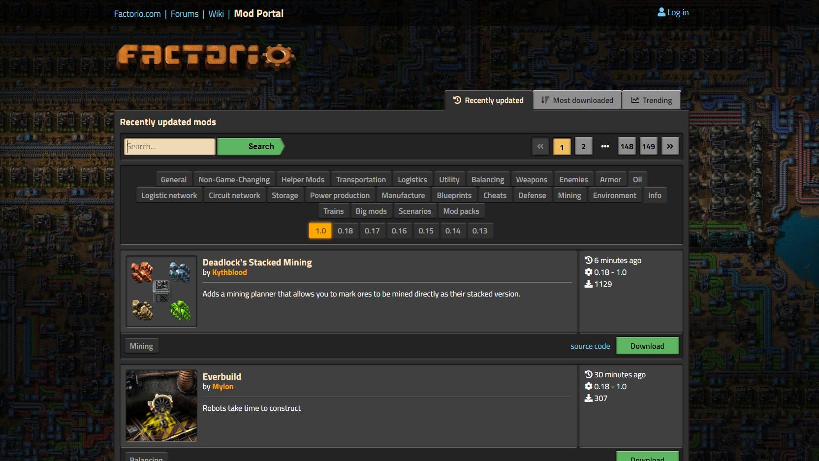 Über das Mod Portal haben Sie Zugriff auf zahlreiche neue Inhalte in Factorio, die Sie manuell installieren.