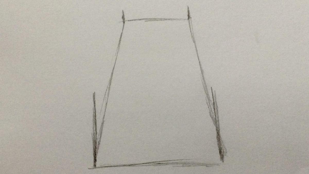 Erweitern Sie die Zeichnung durch Stege.