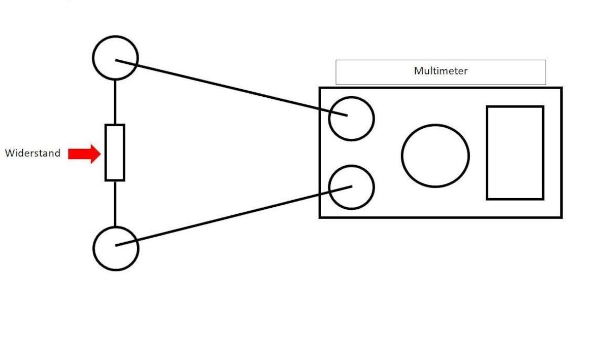 Widerstand messen: Multimeter richtig anschließen