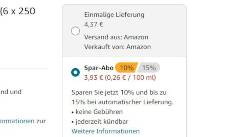 Mit dem Amazon Spar-Abo lässt sich Geld sparen.