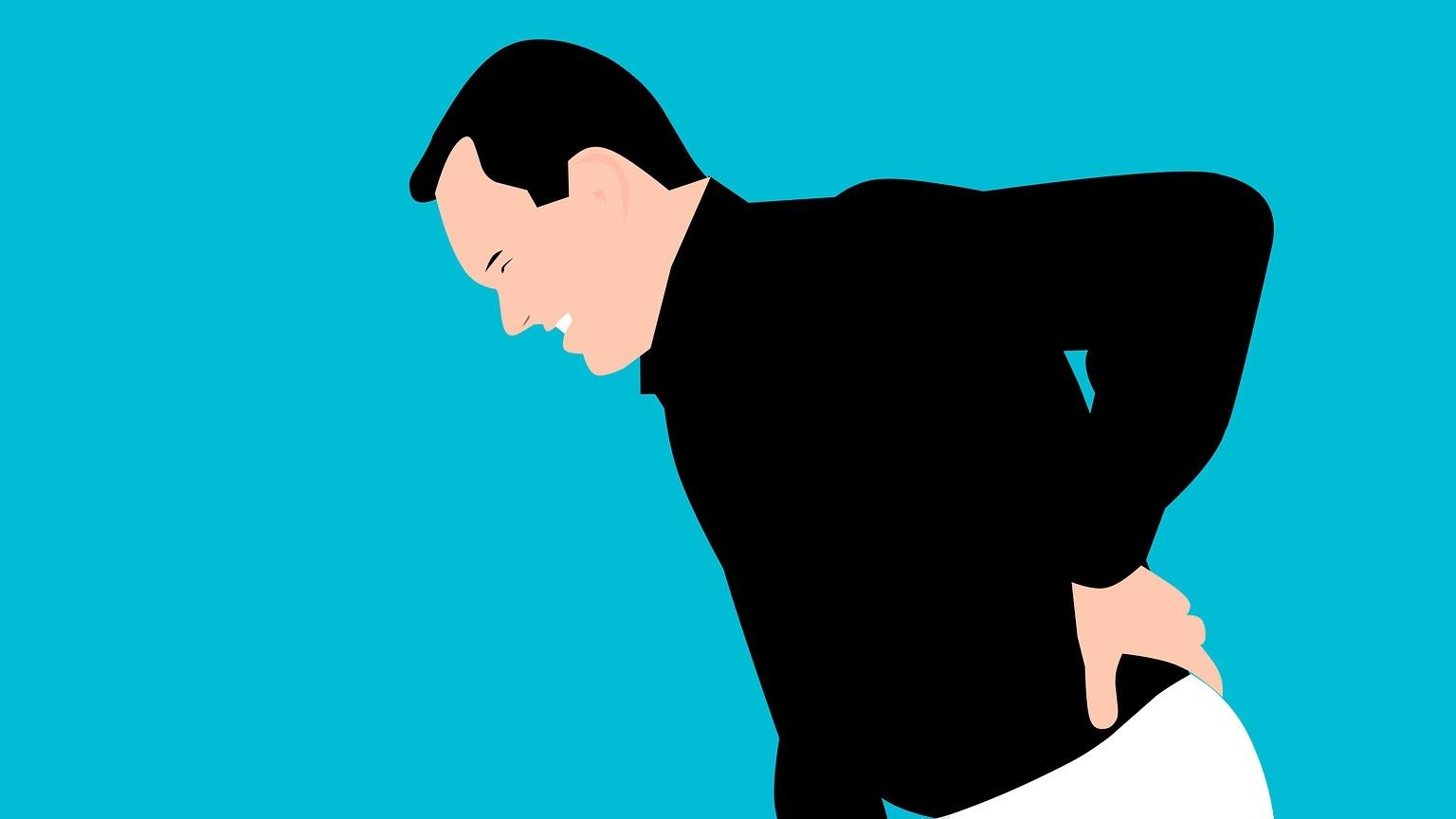 ISG-Arthrose macht sich durch Schmerzen im unteren Rücken bemerkbar.