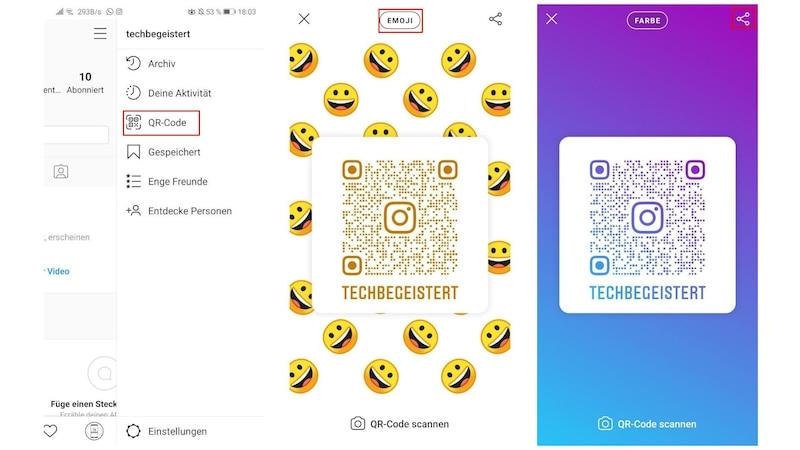 Wenn Sie Ihren Instagram QR-Code erstellen wollen, müssen Sie die Option in den Einstellungen Ihres Instagram-Profils aufrufen.