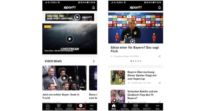 Mit der Sport1 App können Sie über den Reiter