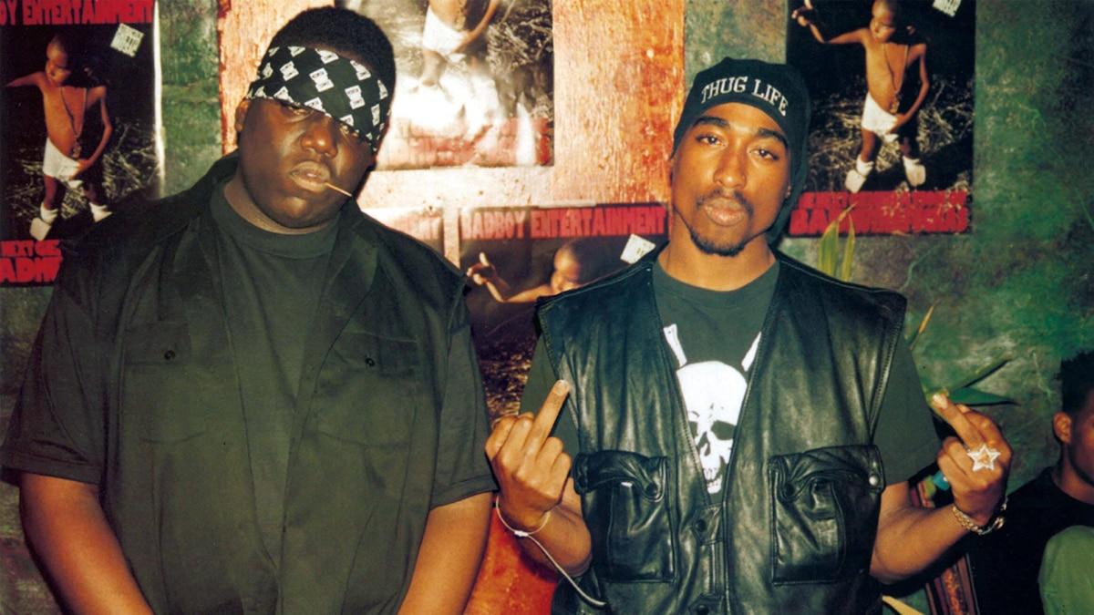 Erschossene US-Legenden: Notorious B.I.G. (l.) und Tupac