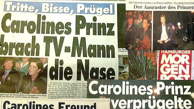Schlagzeilen zu Ernst August, als er den Kameramann Karsten Thürnau verprügelte