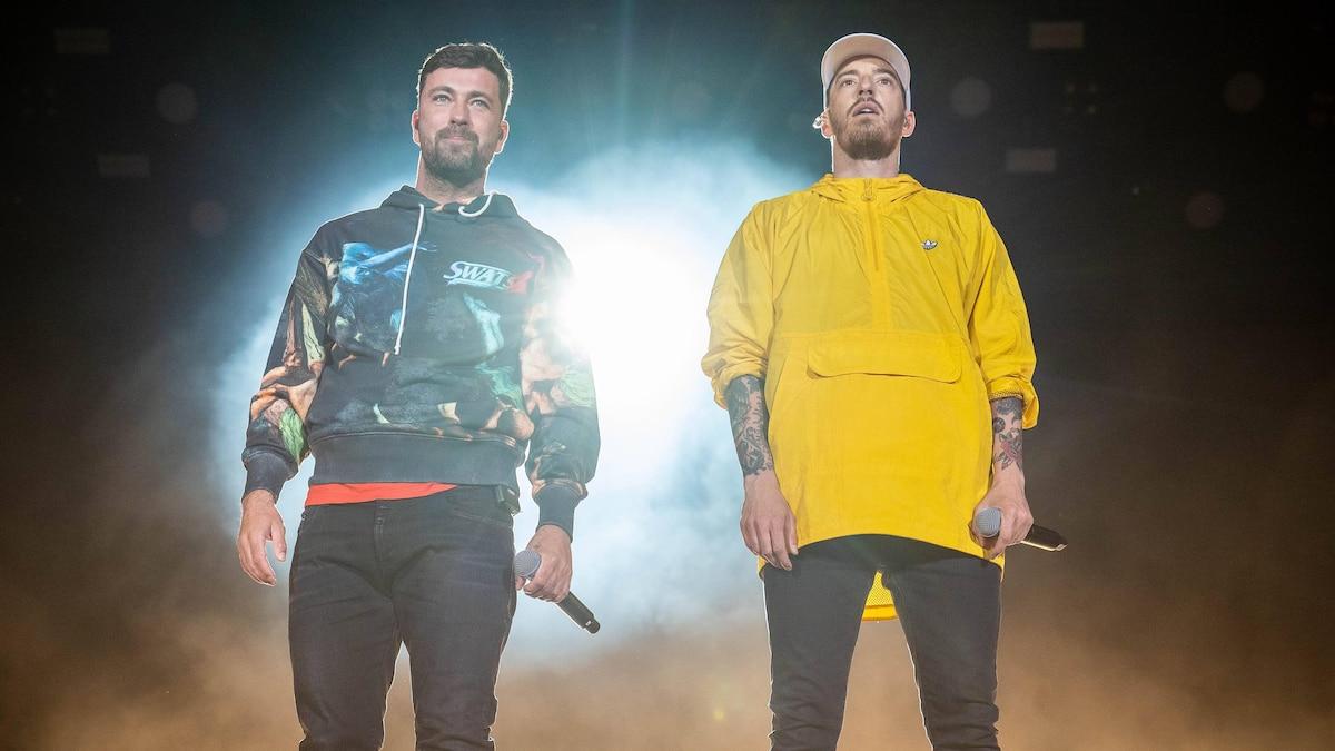 Marteria (l.) und Casper 2019 zusammen bei Rock am Ring