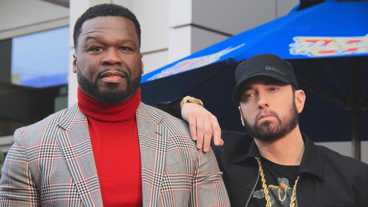 Curtis Jackson (l.) und Marshall Mathers, besser bekannt als 50 Cent und Eminem
