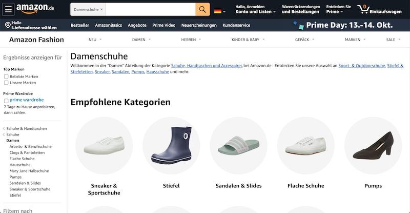 Schuhe bei Amazon shoppen