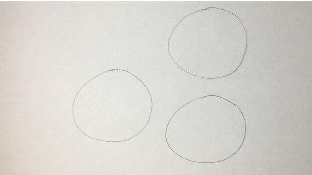 Kekse zeichnen - Schritt 1