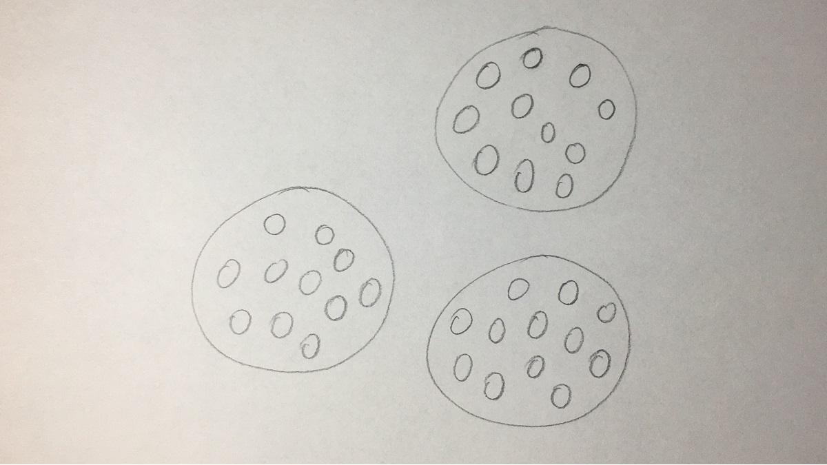 Kekse zeichnen - Schritt 2