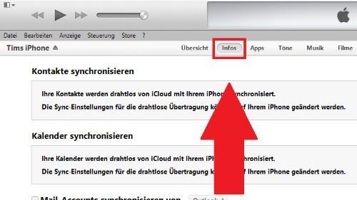 Die Kontakte vom iPhone können Sie über iTunes auf Ihr Android-Smartphone übertragen.