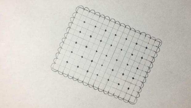 Keks zeichnen - Schritt 4