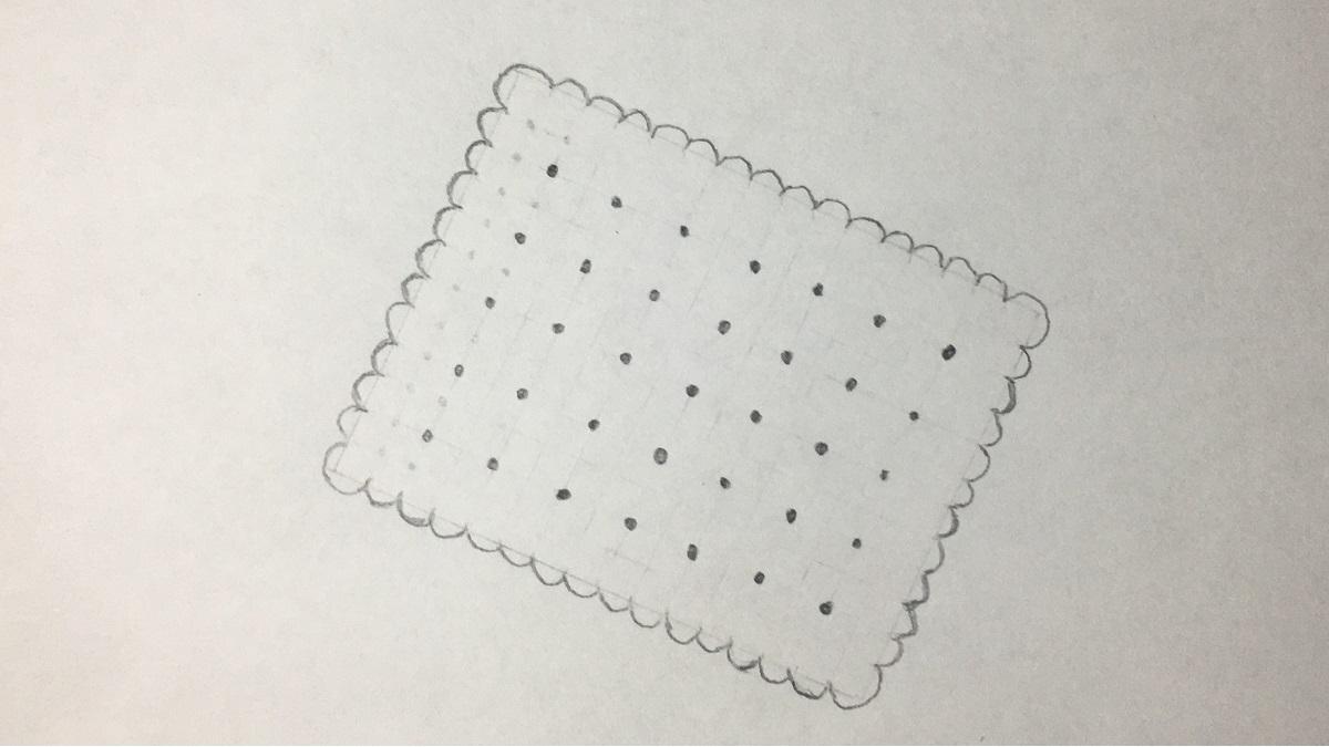 Keks zeichnen - Schritt 5