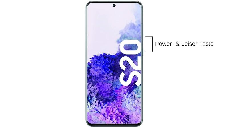 Mit dem Samsung Galaxy S20 können Sie einen Screenshot erstellen, indem Sie die Tasten [Power] und [Leiser] drücken und halten.