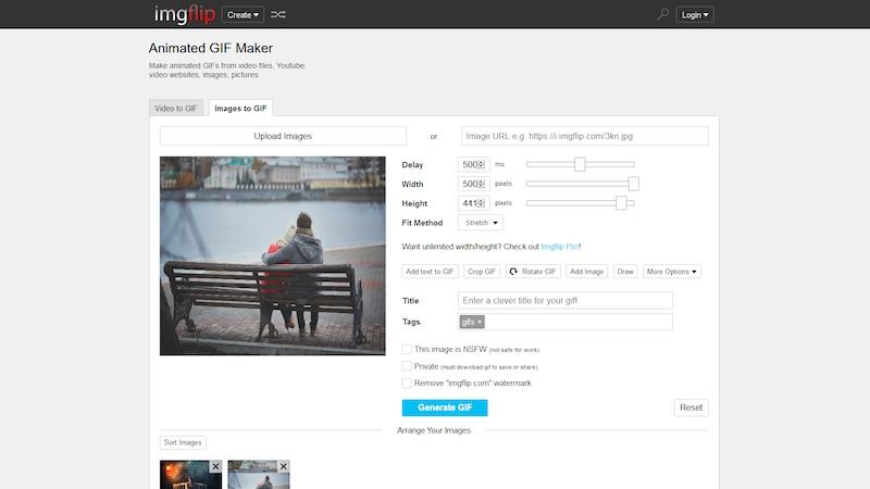 GIF-Bilder online erstellen mit imgflip
