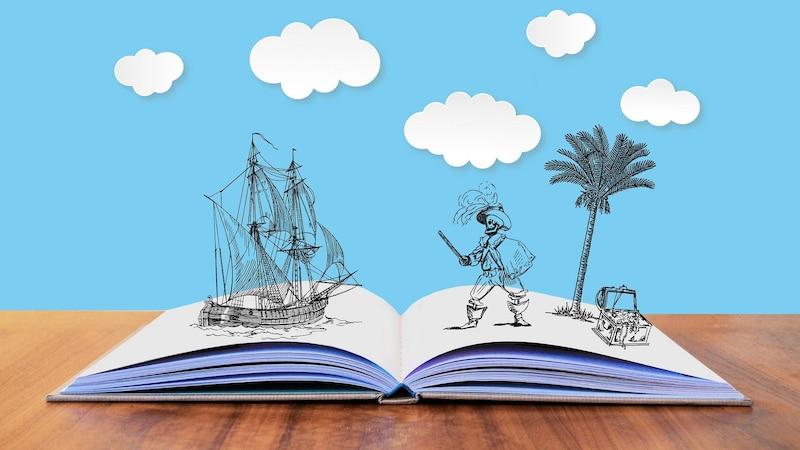 Schatzsuchen für Kinder funktionieren prima in Verbindung mit Geschichten.