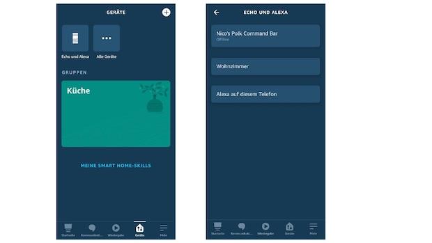 Öffnen Sie in der Alexa-App den Reiter