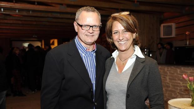 2014: Sportmoderator Ulli Potofski trifft seine ehemalige Moderatoren-Kollegin bei RTLplus, Nicole Bierhoff