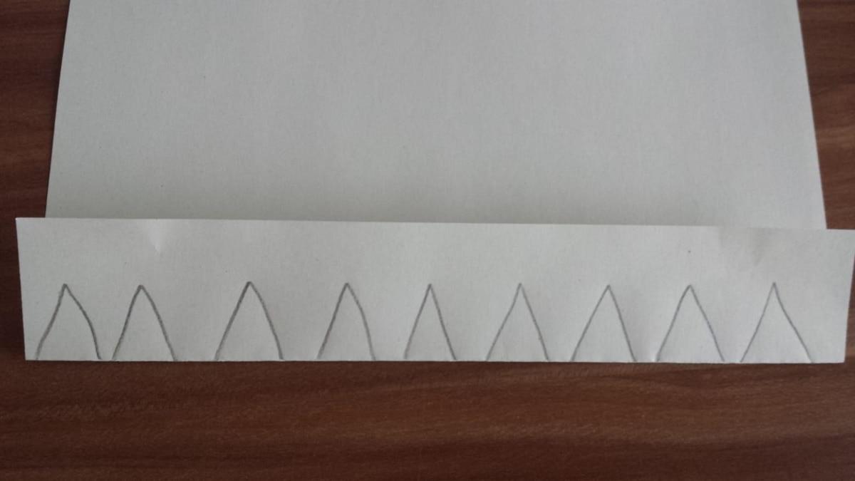 Malen Sie die Dreiecke an der Schnittstelle auf.