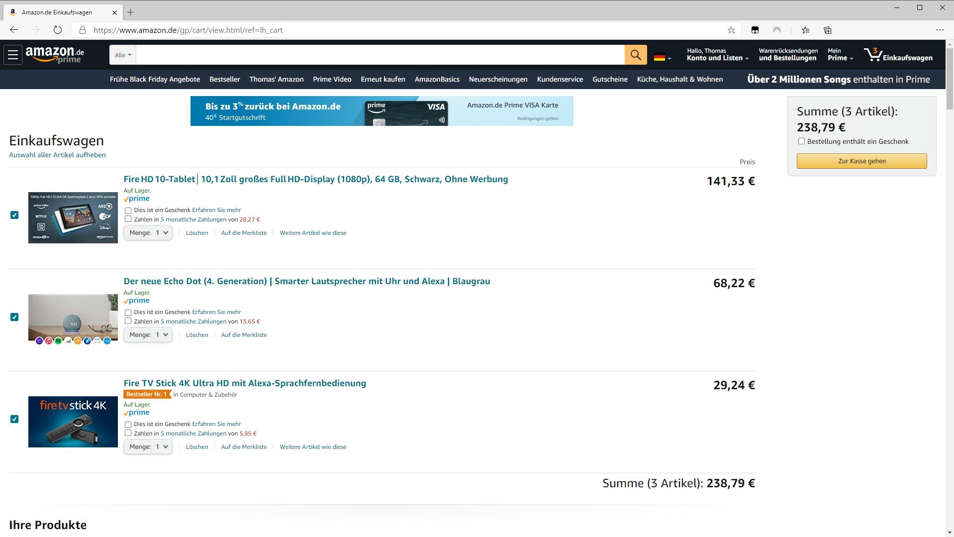 Amazon Warenkorb wiederherstellen: So gelingt es