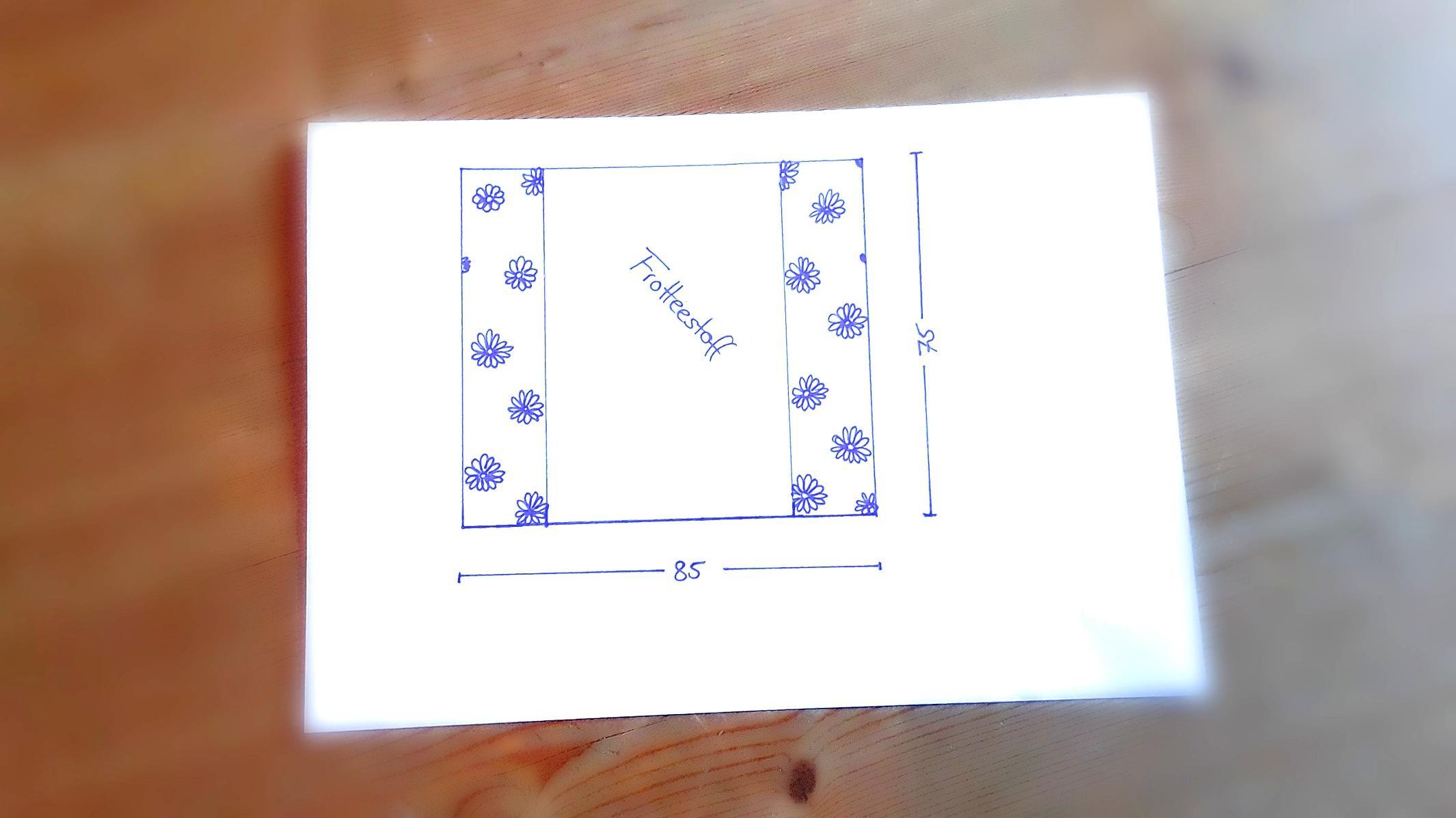 Wickelunterlage nähen - fertigen Sie zunächst eine Skizze an.