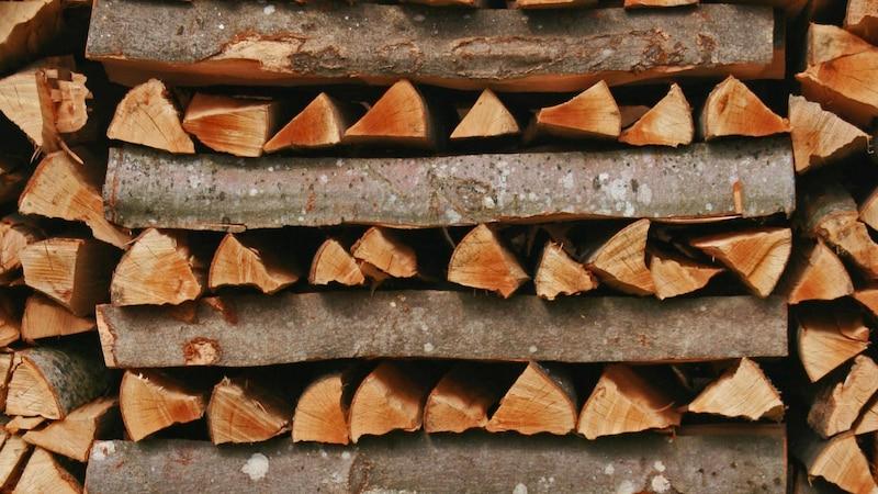 woodpile PUBLICATIONxINxGERxSUIxAUTxONLY Copyright: xWolf74x Panthermedia06830589