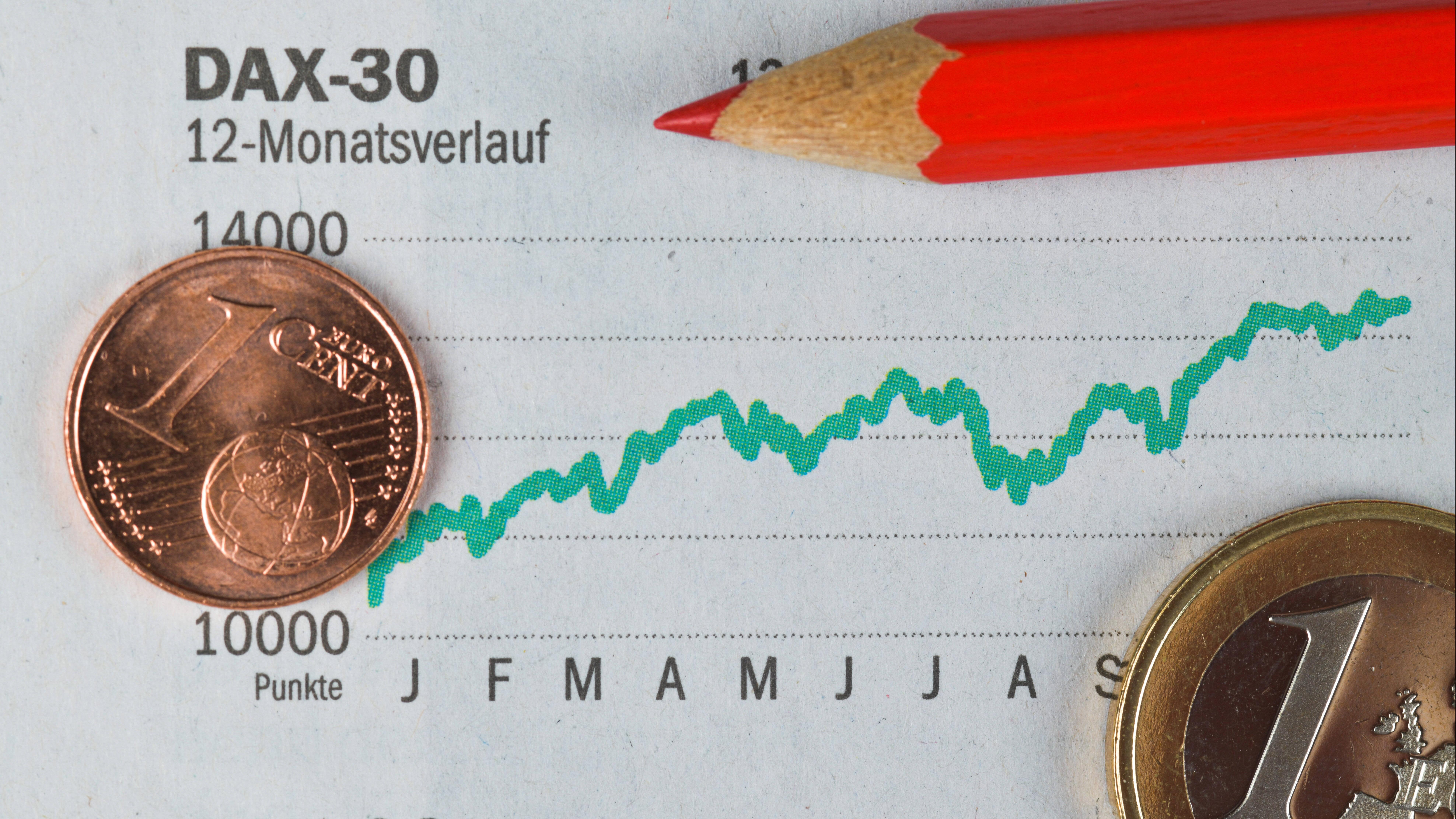 Der DAX definiert die Aktienwerte der 30 größten deutschen Aktiengesellschaften.
