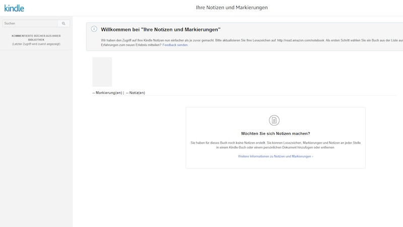 Wenn Sie Ihre Kindle-Notizen nicht auf den PC exportieren wollen, können Sie sie auch online bei Amazon einsehen.