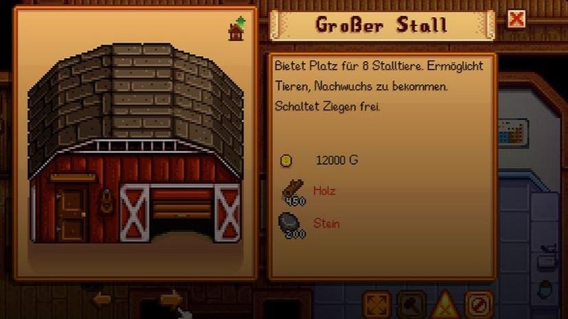 Einen Stall können Sie im Schreinerladen in Auftrag geben.