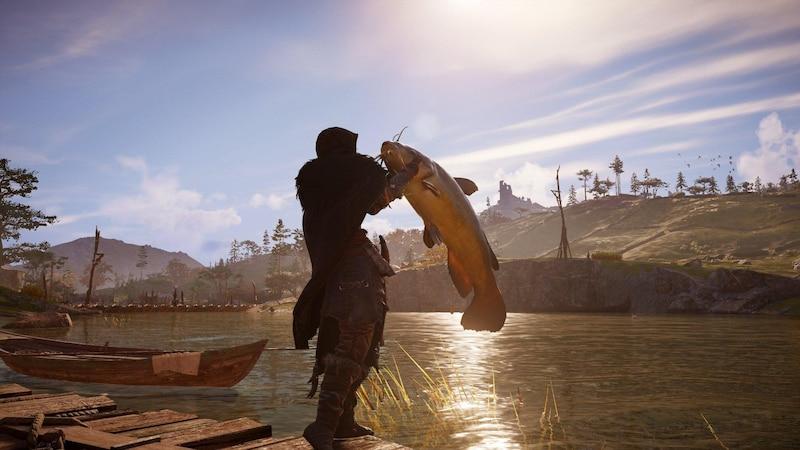 Mit etwas Übung angeln Sie an den richtigen Fundorten in Assassin's Creed Valhalla selbst große Fische