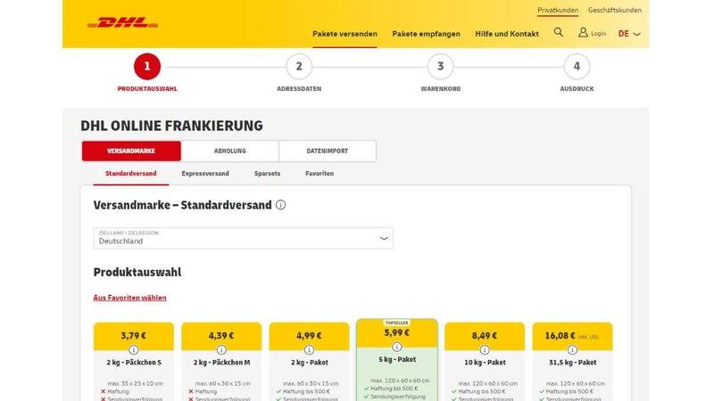 Eine online erworbene Frankierung bei DHL können Sie stornieren, auch wenn diese bereits ausgedruckt oder heruntergeladen ist.