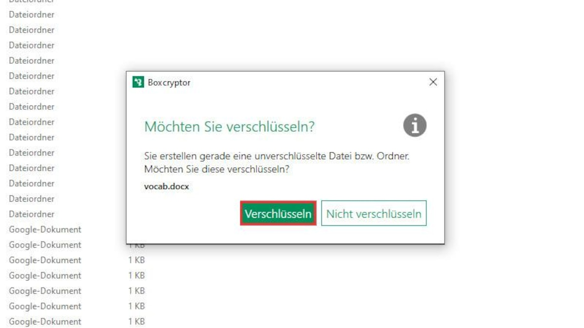 Wenn Sie nun Dateien im Explorer per Drag&Drop in Google Drive hochladen, können Sie diese über den Button