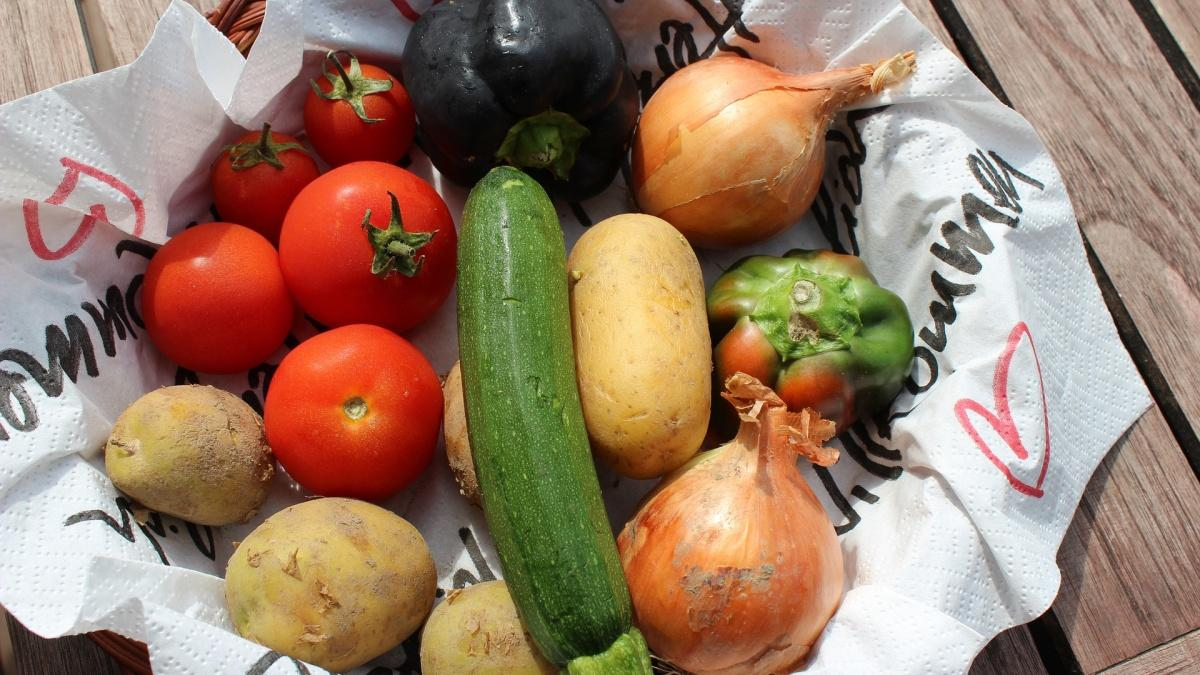 Frisches, regionales Gemüse ist ein großer Bestandteil der Slow-Food-Bewegung