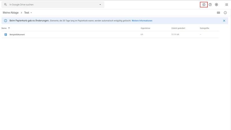 Mit der Offlinevorschau können Sie überprüfen, ob die für Sie wichtigen Dokumente heruntergeladen wurden.