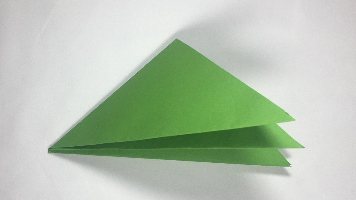 Das kleinste Dreieck mit acht Lagen Papier.