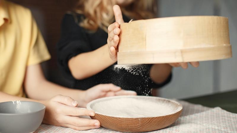 Mehl sieben half früher, Verunreinigungen zu entfernen