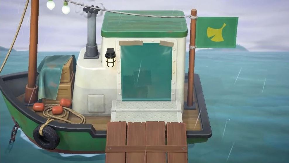 Besuchen Sie Reiner in Animal Crossing: New Horizons auf seinem Schatzkutter, um Kunst für das Museum zu kaufen.