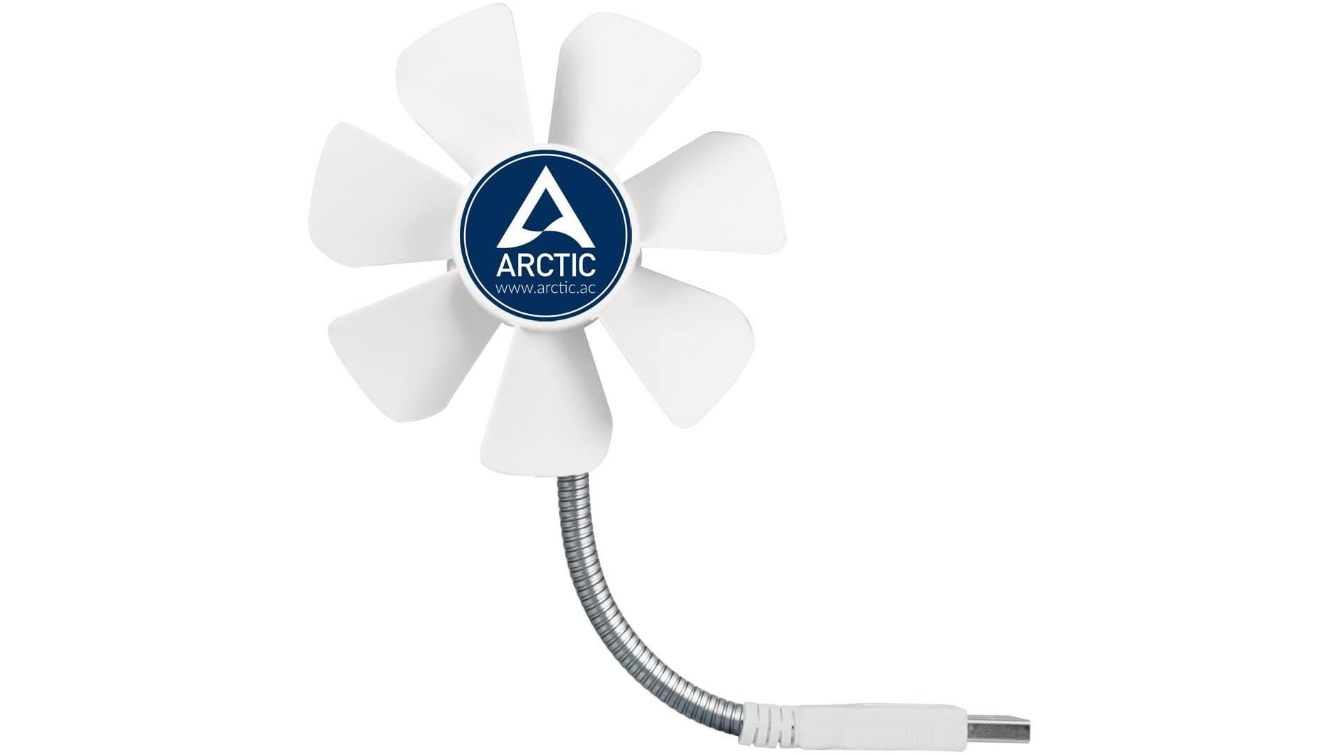 Mit einem USB-Ventilator bewahren Sie auch an heißen Sommertagen einen kühlen Kopf.