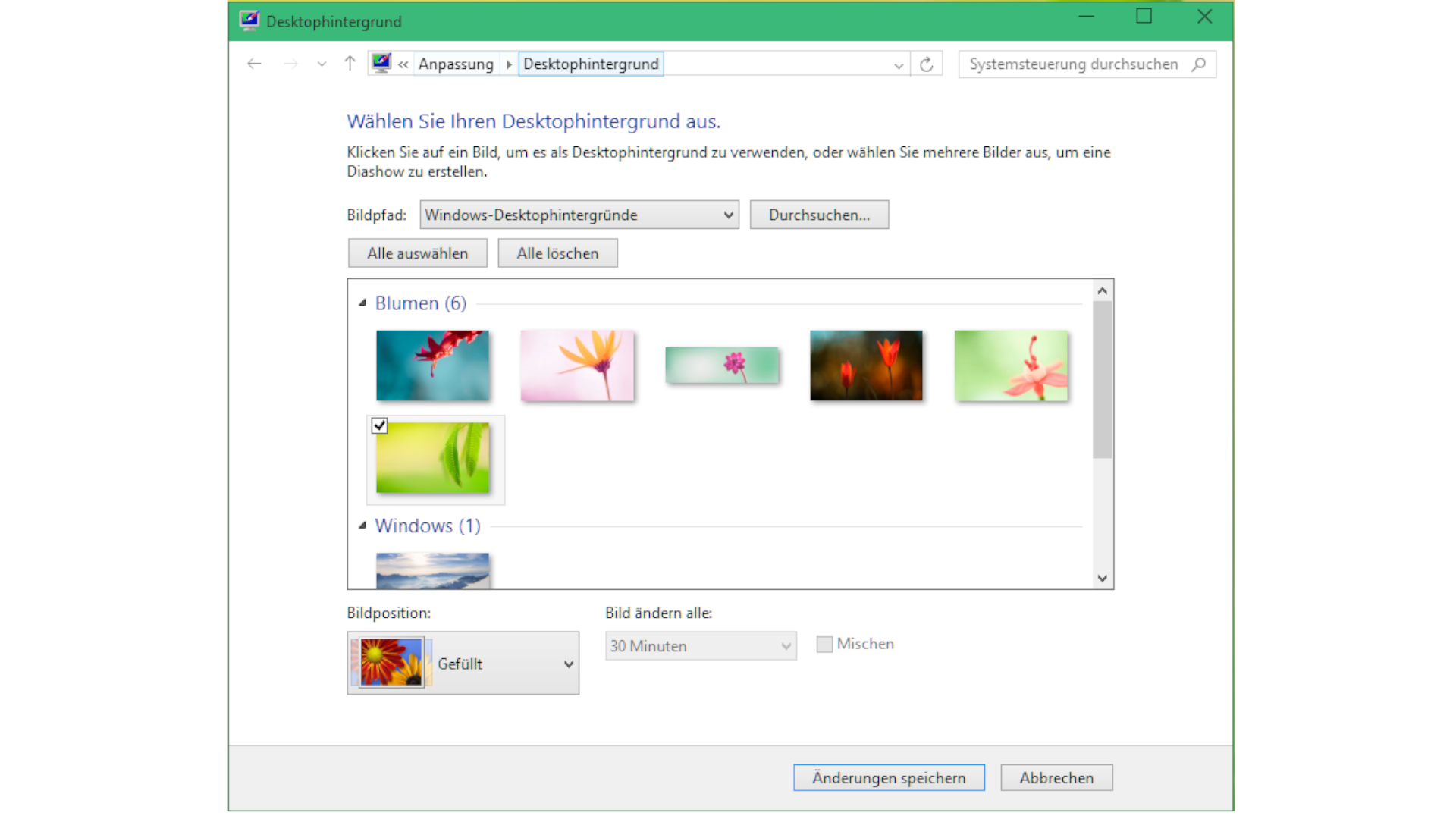 Screenshot aus Windows 10