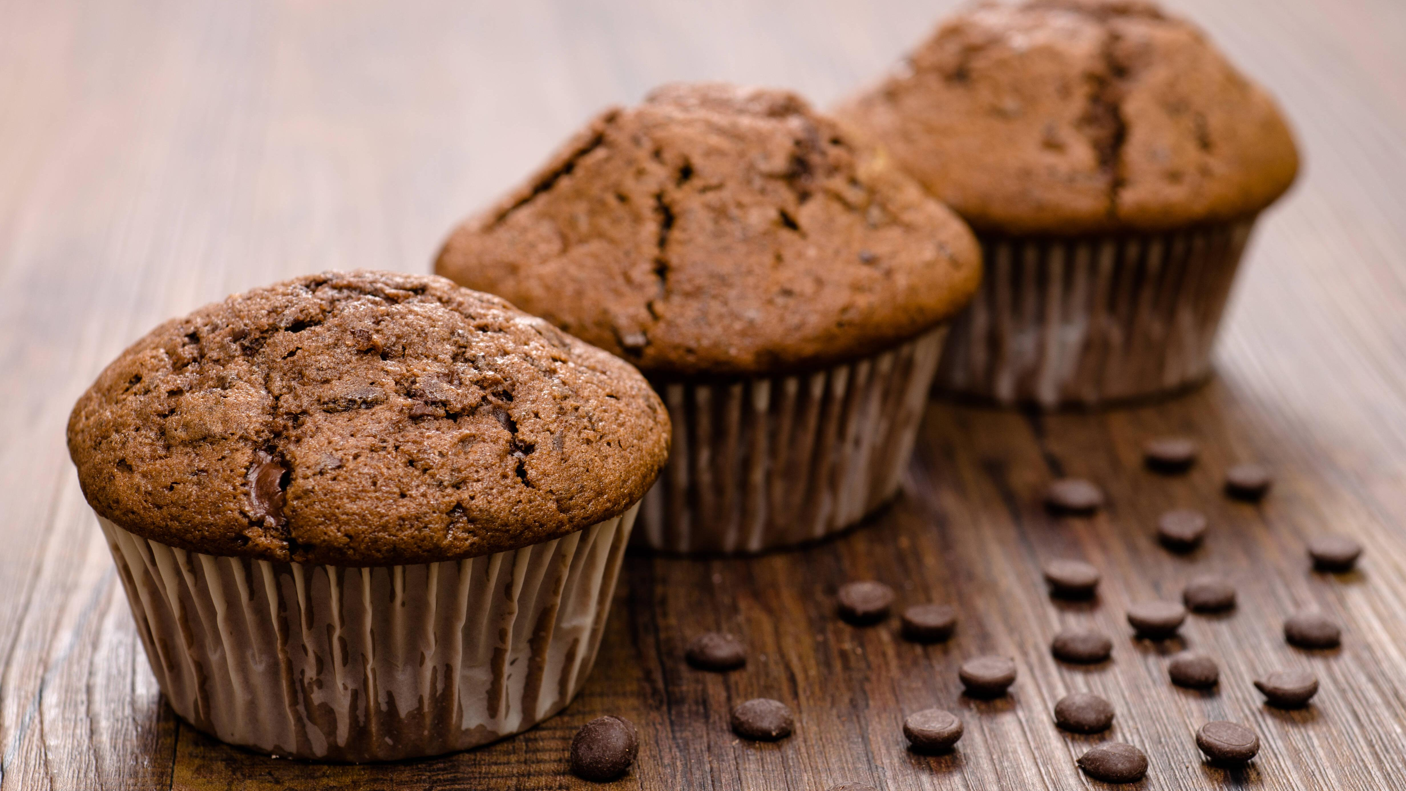 Weihnachtliche Lebkuchen-Muffins nach dem Backen