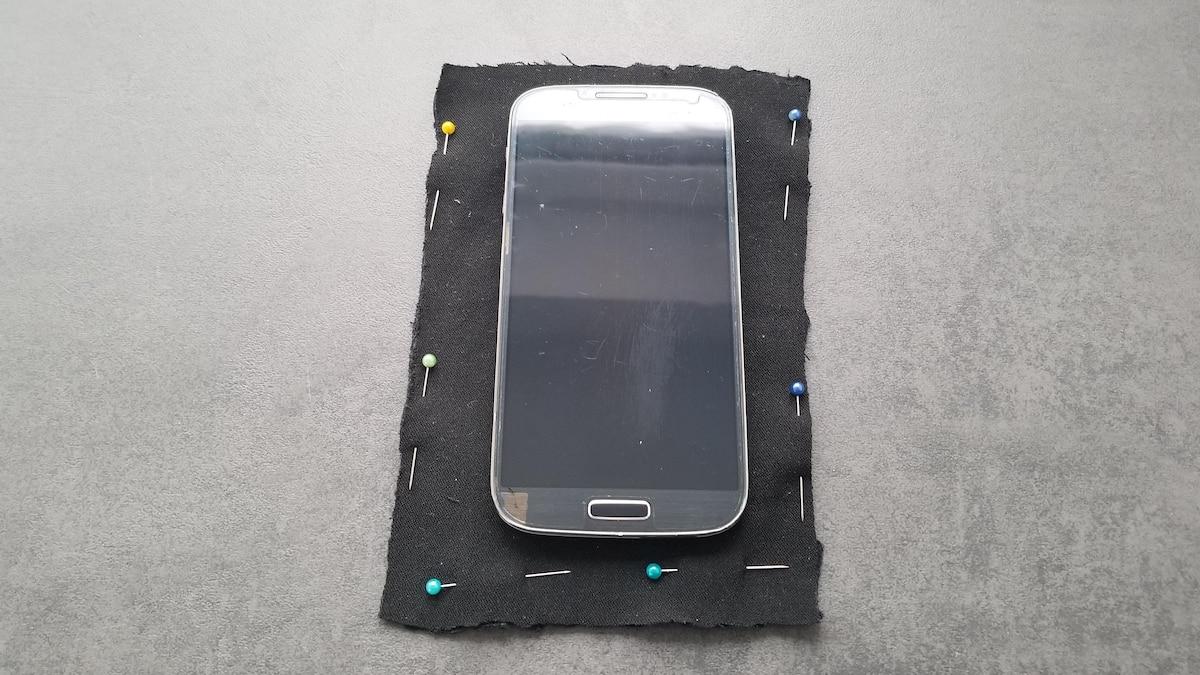 Handytasche nähen: Geben Sie den Maßen Ihres Smartphones 2 cm Nahtzugabe.