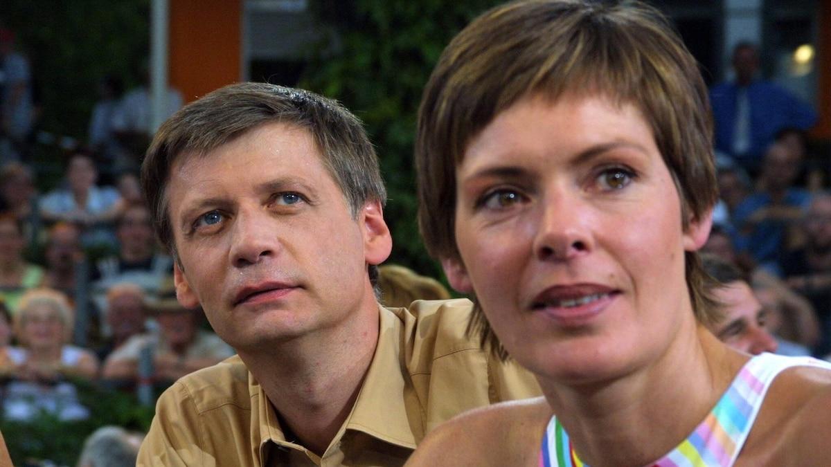 2003 in Mainz: Moderator Günther Jauch und Lebensgefährtin Thea Sihler bei der Jubiläumssendung