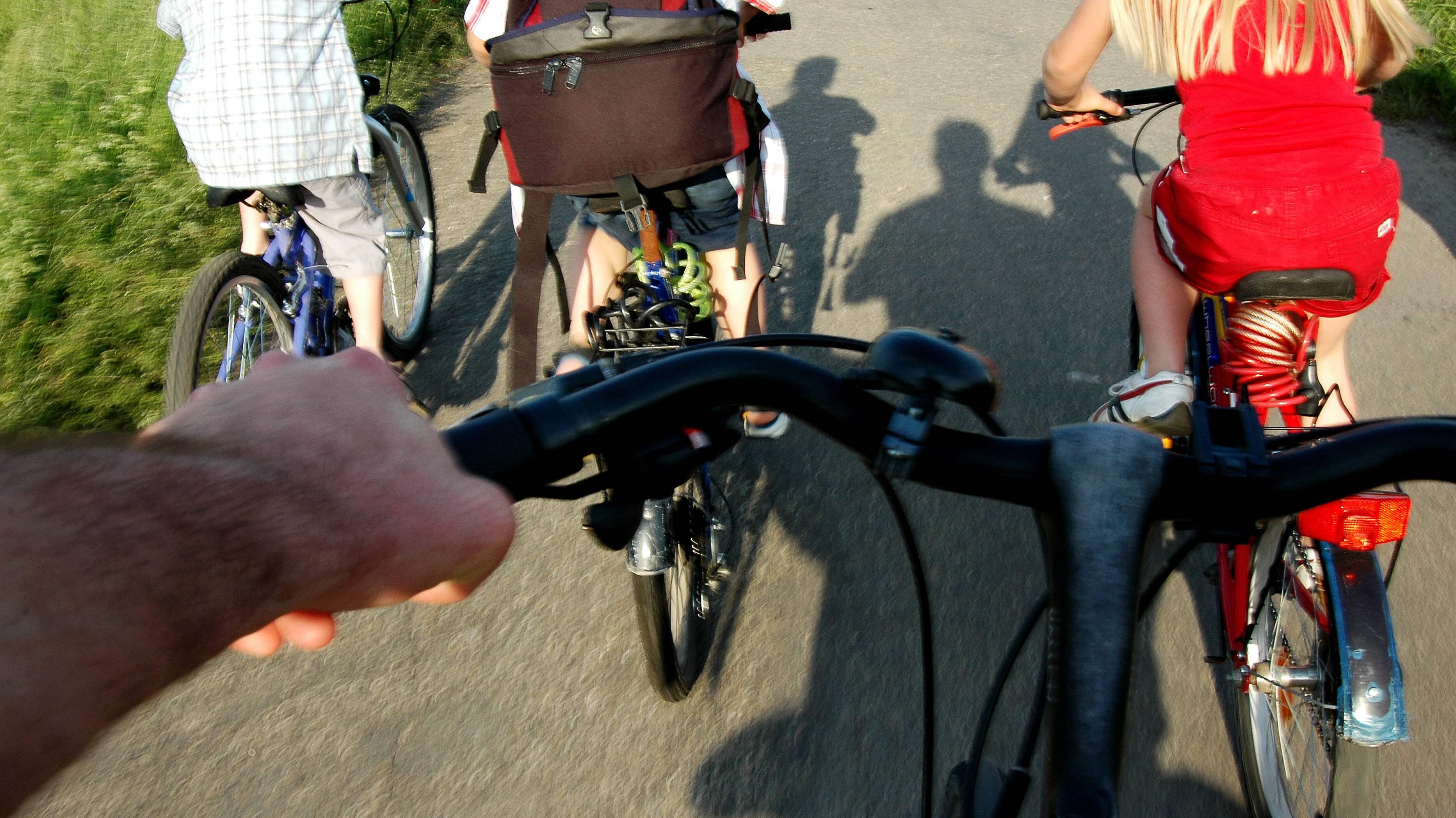 Finger schlafen bei Anstrengung ein - Fahrradfahren