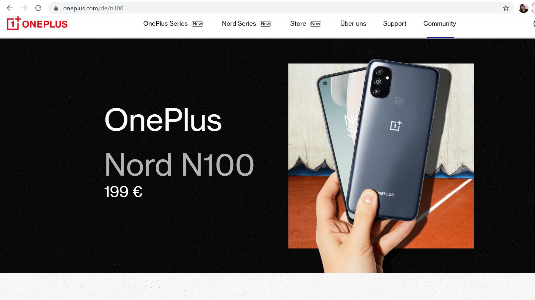 Mit dem OnePlus Nord N100 können Sie ganz einfach einen Screenshot erstellen.