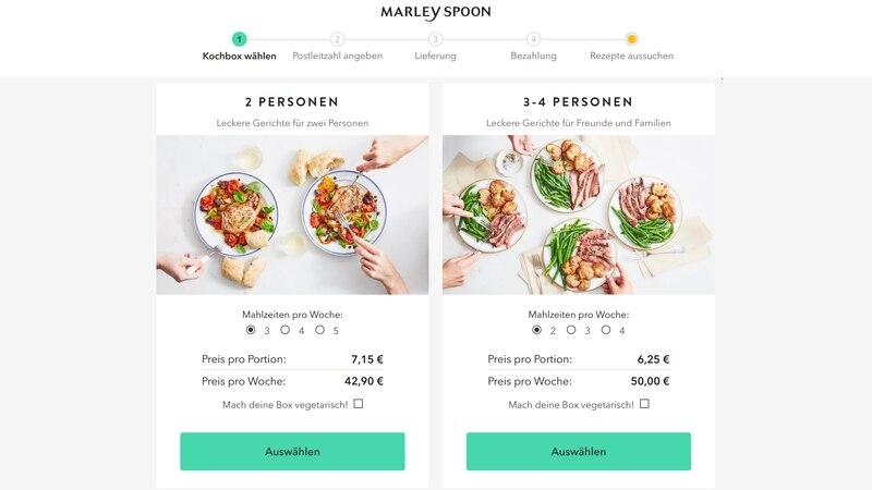 Auf der Webseite von Marley Spoon sind alle Preise und Kosten nachvollziehbar aufgelistet