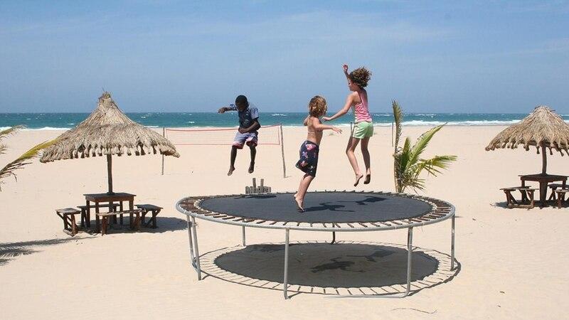 Mit dem Trampolin stärken Sie Ihre Gesundheit, wenn Sie Spaß haben am Springen.