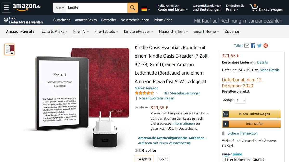 Amazon-Garantie auf den Kindle