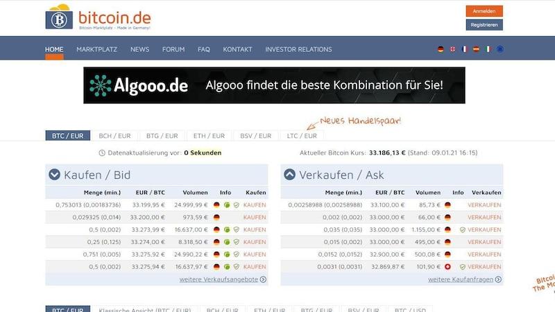 Bitcoin.de: Einfach und schnell Bitcoins kaufen sowie verkaufen