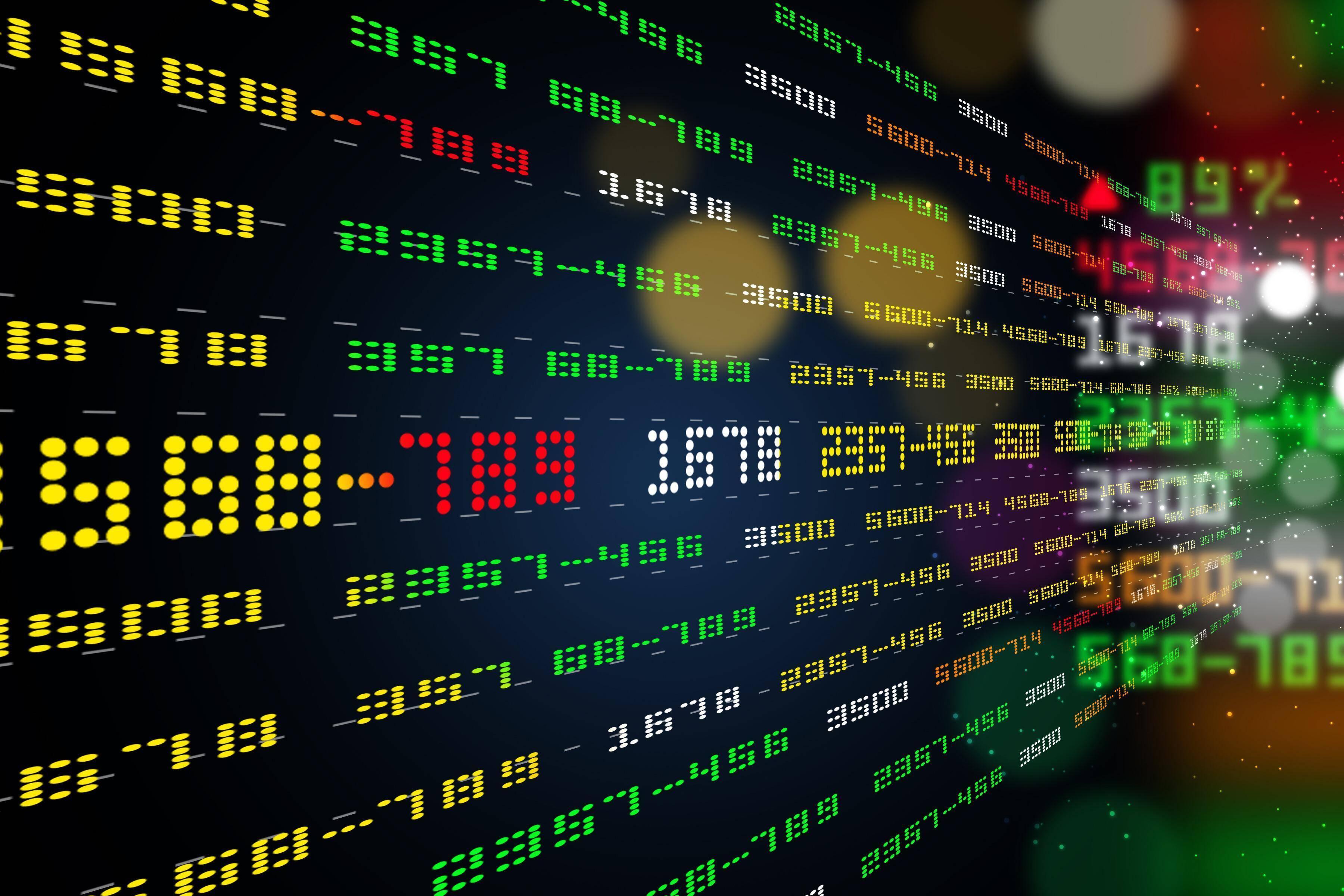Aktienhandel findet an der Börse statt