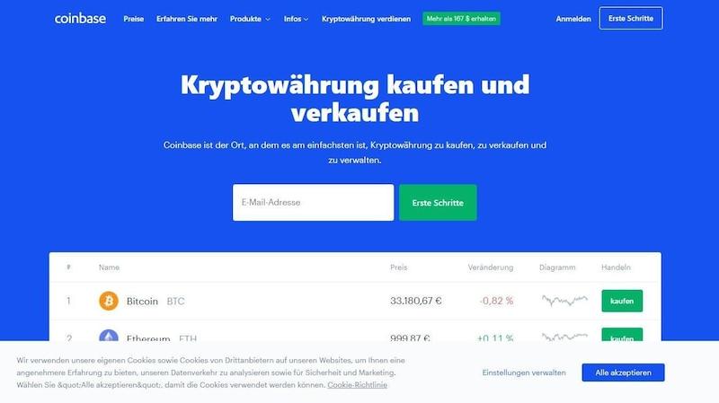 Coinbase.com: Hier können Sie nicht nur Bitcoins erwerben